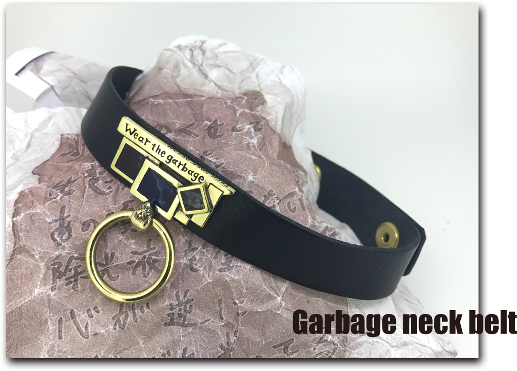 Garbage neck belt PUNK BACK OCEAN